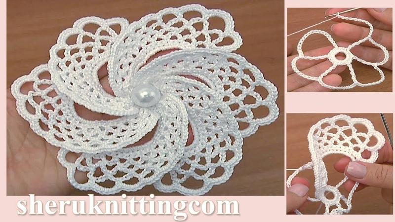 Large Crochet Flower Tutorial - Pattern 105