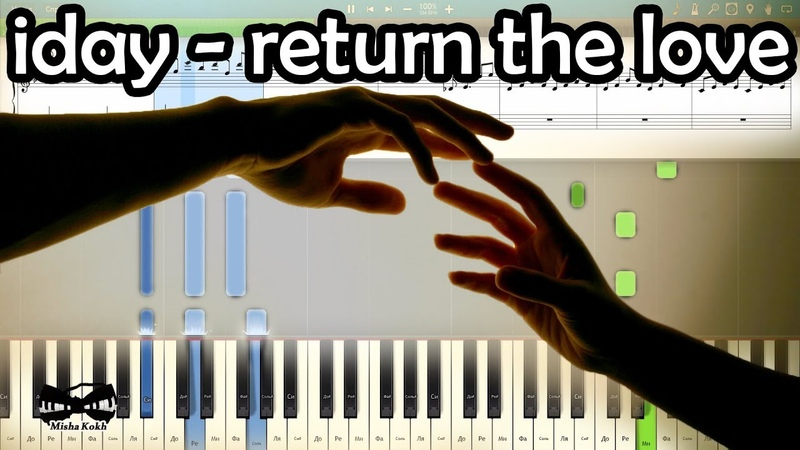 Iday return the love на пианино Synthesia cover Ноты и MIDI