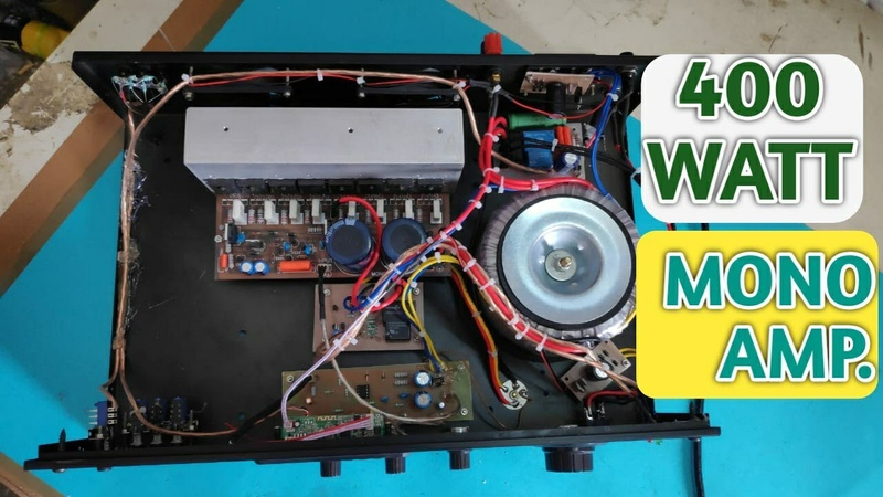 400 Watt Mono Power Amplifier with Spk-Protection Assembled In Cabinet || DIY || HINDI || XTREME