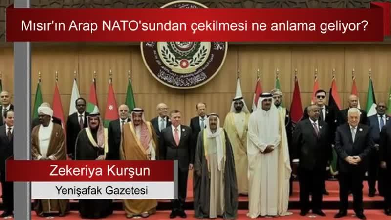 Zekeriya Kurşun Mısır'ın Arap NATO'sundan çekilmesi ne anlama geliyor
