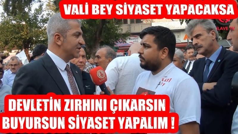 Vali Bey Siyaset Yapacaksa Devletin Zırhını Çıkarsın ! İyi Parti Antalya İl Başkanı Yavuz TEMİZER
