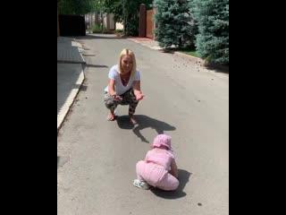 Лера Кудрявцева и её дочь Маша