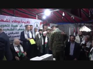 Церемония чествования семей 750 палестинских мучеников, погибших за освобождение Сирии от терроризма