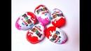 Chocolate Kinder Surprise Eggs opening toys. Barbie. Открываем Шоколадные Яйца Киндер для девочек.