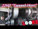 Ridiculous Loud LOW BASS! 22hz Tapped Horn Wall Enclosure | 4 18 Subwoofers 24,000 Watts!