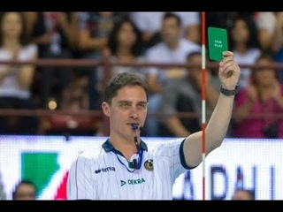 The first Green Card in the History of Volleyball