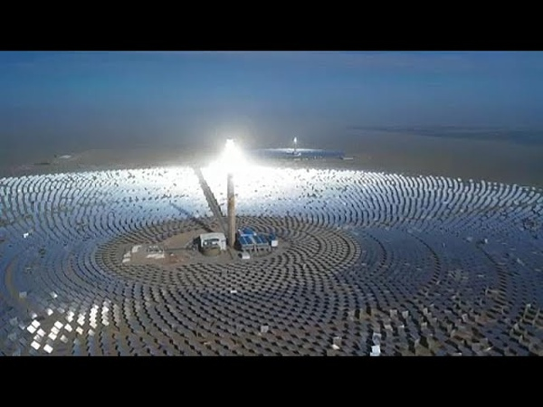 China's first 100MW solar power plant turned on