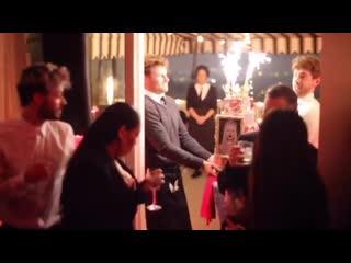 Demi lovato at christina aguilera's birthday party in los angeles