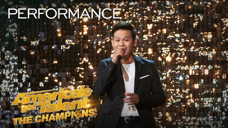 Marcelito Pomoy Sings Con Te Partirò With DUAL VOICES America's Got Talent The Champions
