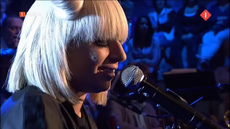 Lady Gaga - Poker Face (акустика) (Live @ Mooi! Weer De Leeuw) (22.04.2009)