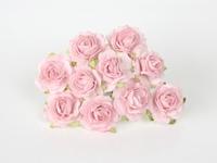 000015 Кудрявые розы 2 см розовоперсиковые светлые  5 шт - 38 руб  диаметр 2 см высота 1,5 см длина стебля 6 см