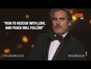 The Oscars 2020 | Joaquin Phoenix on past mistakes, feminism and animal rights | FOX