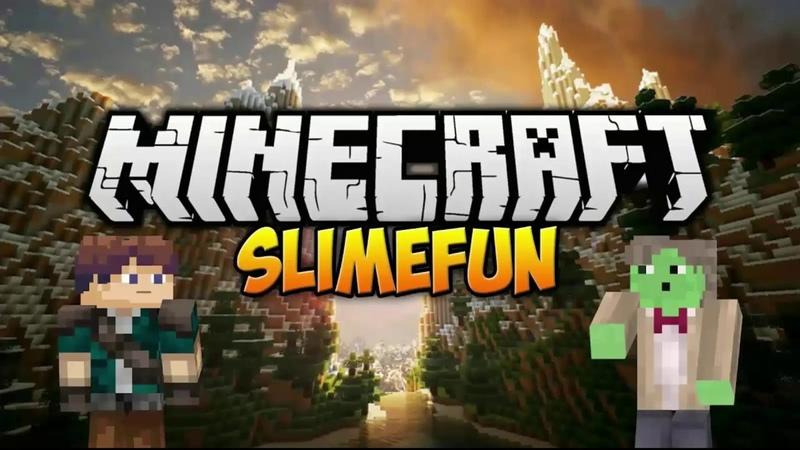 Minecraft выживания Slimefun 1 Портал в ад