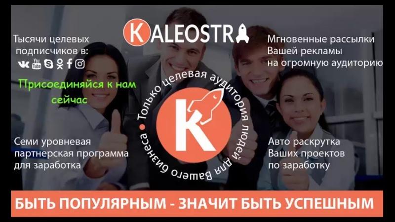 KALEOSTRA Раскрутка Youtube ВКонтакте Ok ru