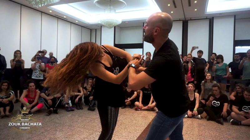 Papagaio y Olaya demo at Madrid Zouk Bachata Congress 2019