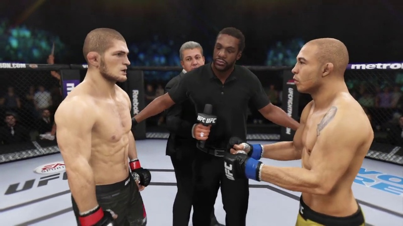 Khabib Nurmagomedov vs Jose Aldo (EA Sports UFC 3) - CPU vs CPU