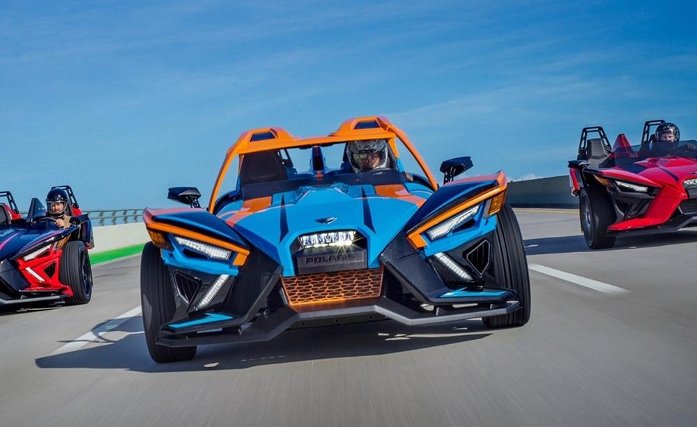Спорт-трайк Polaris Slingshot 2020: новый мотор ProStar и автоматическая коробка AutoDrive