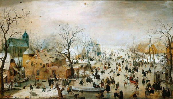 «Зимний пейзаж с конькобежцами», Хендрик Аверкамп