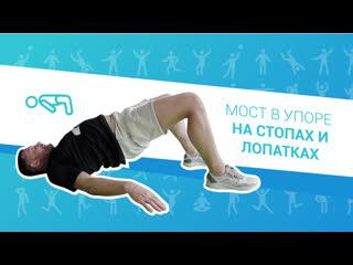 Упражнения для профилактики простатита, ЛФК. 11. Мост в упоре на стопах и лопатках