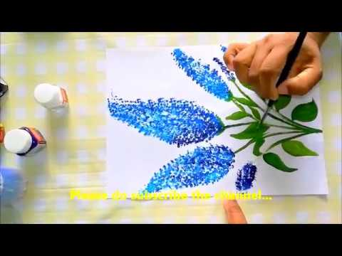 How to do fabric painting with buds DIY Art Fabric painting Tutorial Ear Buds reuse