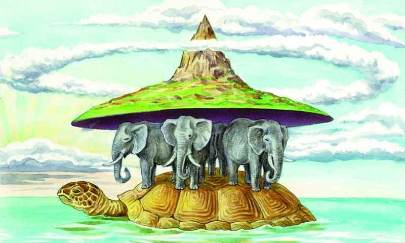 странно плоская земля картинки со слонами загружайте графику