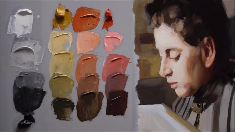 How to mix light skin colors Zorn's Palette Full demonstration