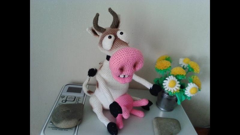 Веселая корова ч 1 Cheerful cow р 1 Amigurumi Crochet Амигуруми Игрушки крючком