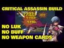 NO Luk Crit Assassin Build [No Buff, No Weapon Cards] - Ragnarok Mobile Eternal Love