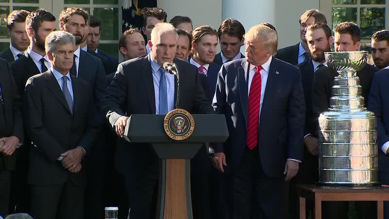Trump welcomes the St. Louis Blues to the White House Oct 15, 2019