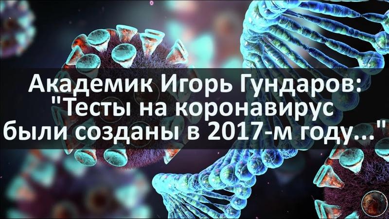 Академик Игорь Гундаров Тесты на коронавирус были созданы в 2017 м году