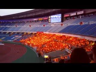 Прекрасное световое шоу на матче японской лиги