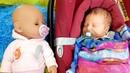 Свинка Пеппа учится нянчить куклу беби борн. Видео на английском языке.
