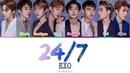 EXO 엑소 24 7 Color coded lyrics Han Rom Eng
