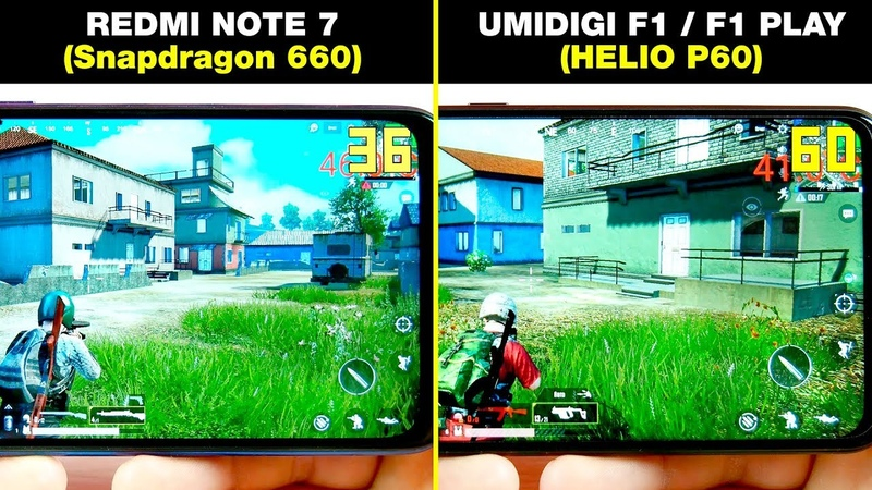 REDMI NOTE 7 Snapdragon 660 vs UMIDIGI F1 PLAY HELIO P60 СРАВНЕНИЕ В ИГРАХ GAME TEST