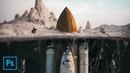 Underground Rocket photo manipulation tutorial Made using Huion Kamvas Pro 13