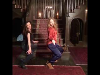 Miranda otto & michelle gomez dancing 'straight to hell'