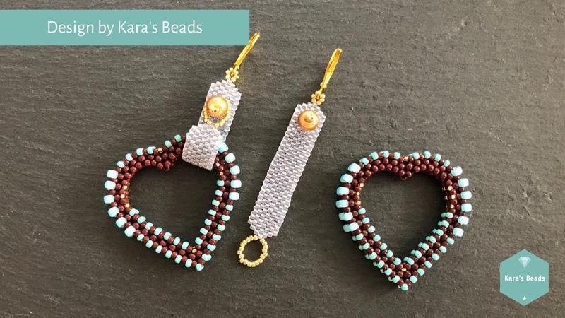 CRAW Heart Charm Tutorial Interchangeable Earrings Beaded Shapes DIY