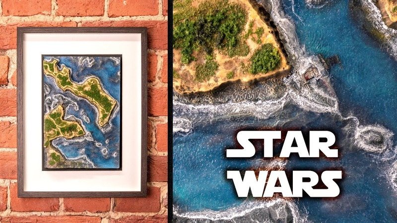 Как сделать водный пейзаж по Star Wars (как настроить 3D принтер Anycubic Photon S)
