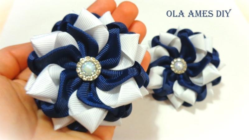 Простые и красивые цветы из лент/ Канзаши/ DIY Ribbon Flowers/ Flores de Fita/ Ola ameS DIY