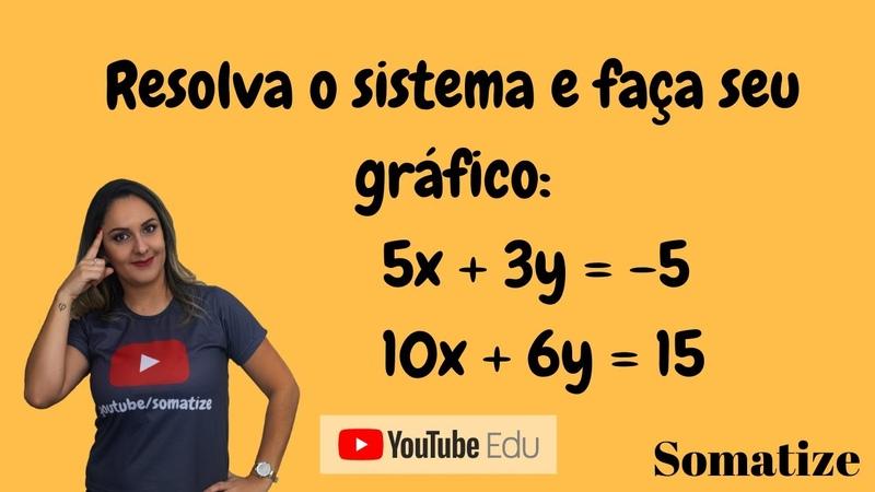 Resolvendo sistema de 2 equações impossível com gráfico Somatize Edna