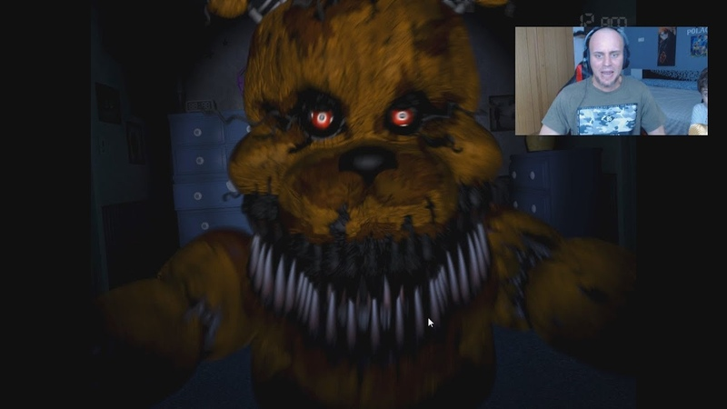 FIVE NIGHTS AT FREDDY'S 4 NOCHE 5 COMO PASARLA JUGANDO AL GATO Y AL RATON nightmare fredbear