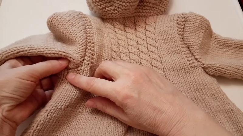 Вяжу и распускаю пальто для внученьки готово