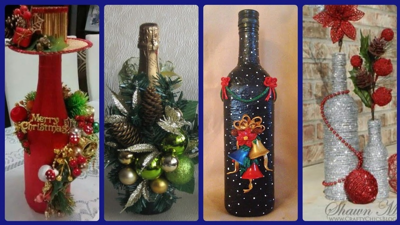 Recycled Wine Bottles Decoration Ideas For Chtistmas Home Decor Table Center Pieces