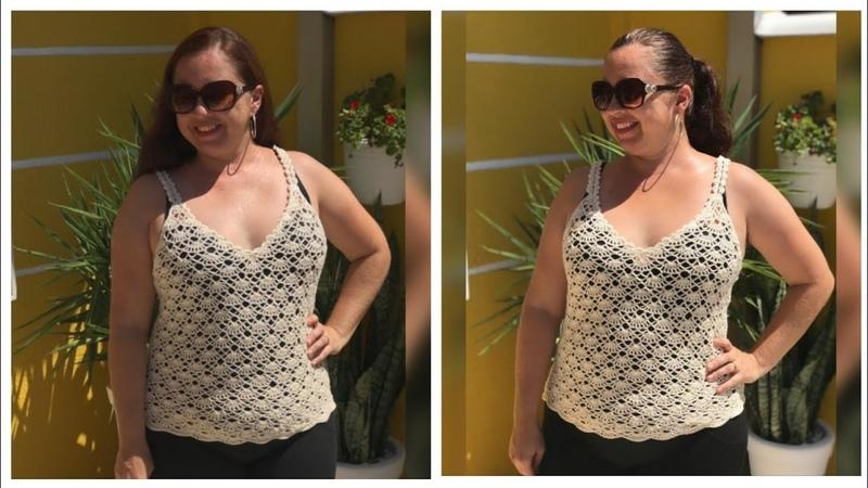 Blusa de alcinha em crochê para o VerãoTutorial Crochê Passo a Passo