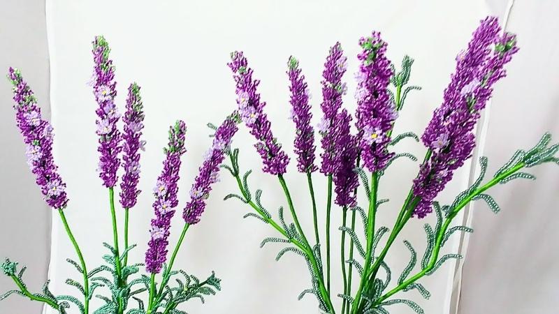 Лаванда из бисера Часть 2. МК от Koshka2015 - цветы из бисера, бисероплетение, МК Сборка lavender