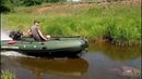 Солар 420 и мотор болотоход Тофалар 21 л с по мелководью