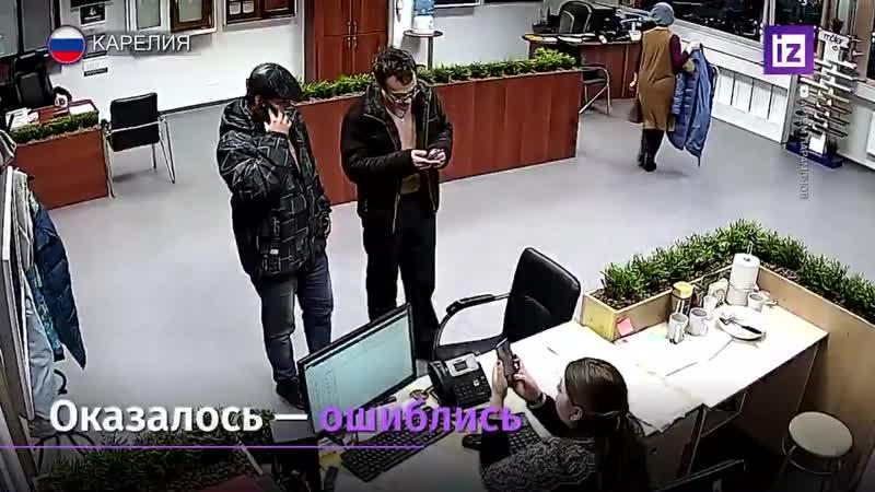 В Карелии двое мужчин с ножом и битой ворвались в офис