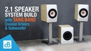 Stereo Speaker Subwoofer System BUILD with Tang Band 8 Coaxial by SoundBlab