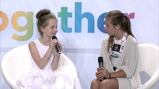 Junior Eurovision 2014 at Malta. PBS Press Conference of Alisa Kozhikina from Russia