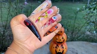 Halloween Acrylic Nails | XX-Long Acrylic Nails | Stiletto Nails